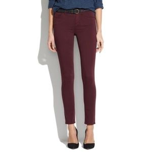 "Madewell 9"" High Riser Skinny Skinny Sateen Jeans"